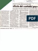 """""""Nasce il manifesto dei 'cattolici gay'"""" (Il Giornale, 31 marzo 1982)"""