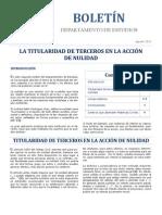 Terceros en la acción de nulidad - Boletín CAJ RM