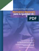 NormativaNacionalIgualdadGenero2011