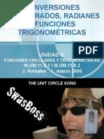 CONVERSIONES GRADOS, RADIANES Y FUNC TRIGON Versión Bolg