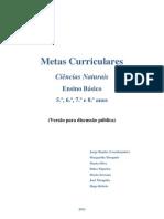 Metas curriculares de Ciências Naturais - 5.º, 6.º, 7.º e  8.º  anos (Versão para discussão pública)