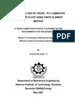 Static Analysis of Cross-Ply Laminated