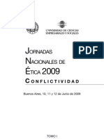 Jornadas Nacionales de Etica 2009 - ToMO I