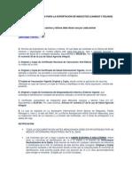 REQUISITOS SANITARIOS PARA LA EXPORTACIÓN DE MASCOTAS