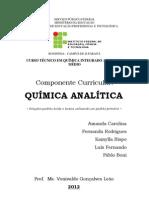 Relatório prática 01 - Química Analítica