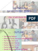 Marketing 260 - Family Decision Making - Chp 12