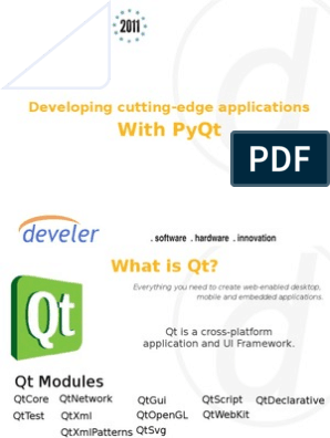 Developing Cutting Edge Applications With Pyqt | Widget (Gui