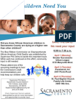 Community Meetings to Hear Draft Recommendations of Blue Ribbon Commission on African-American Child Deaths in Sacramento