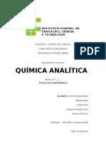 Relatório prática 02 - Química Analítica