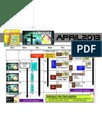 April 2013 Calendar Hlm