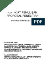 Kiat-kiat Penulisan Proposal Penelitian Farmasi