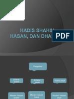 Hadis Shahih, Hasan, Dan Dhaif
