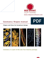 Red Giant Geomancy User Guide