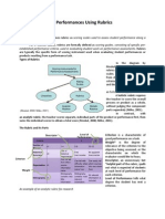 Scoring Authentic Performances Using Rubrics_written Report