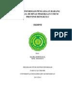 Sistem Informasi Pengadaan Barang Dan Jasa Di Dinas Pekerjaan Umum Provinsi Bengkulu