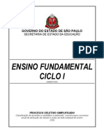 Prova Ensino Fundamental SEE/SP Ciclo I 2008