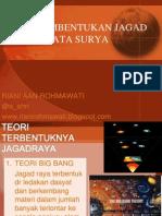 Teori Pembentukan Jagad Raya & Tata Surya