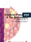 Industrial Process and the Environment Crude Palm Oil Industry