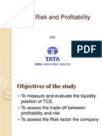 Liquidity , Risk and Profitability Analysis Ppt