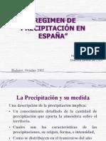 Regimen de precipitacion en España