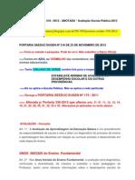 Portaria SEEDUC SUGEN 316-2012-ANOTADA - AV Escola Pública 2013