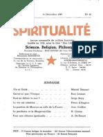 SPIRITUALITÉ « Etre Libre » N° 13 (Décembre 1945)