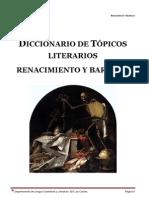 Diccionario de Topicos Literarios. Renacimiento y Barroco