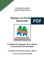 Promesas Electorales de Susana Villaran 2006