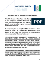 YSRCP RESPONSE TO TDP's BLACK PAPER ON POWER