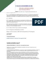 Fed Lei 7.398-85 - Gremio Estudantil
