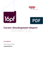 16pf Career Development Report Shareable Version