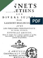 Drelincourt L Sonnets Chretiens 1761ed
