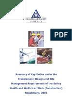 HSA Procurement Design and Site Management Requirements 2006