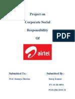 Project on airtel csr