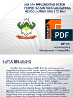 Perancangan Dan Implementasi Sistem Informasi Perpustakaan Sma Kartika