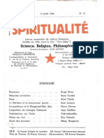 SPIRITUALITÉ « Etre Libre » N° 17 (Avril 1946