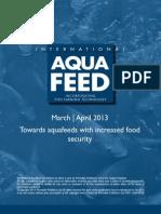 Towards aquafeeds with increased food security