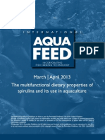 The multifunctional dietary properties of spirulina and its use in aquaculture