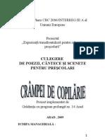 CULEGERE DE POEZII, CÂNTECE ŞI SCENETE PENTRU PRESCOLARI
