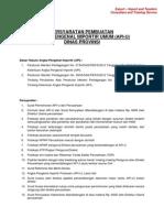 Persyaratan Pembuatan API-U (Dinas Provinsi)