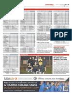 Publicación de las clasificaciones de las ligas Futbolcity en Superdeporte. Miércoles 27 de marzo 2013