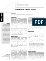Pulmonary Aspiration of Gastric Contents