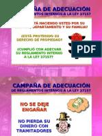 CAMPAÑA DE ADECUACIÓN DE REGLAMENTOS INTERNOS A LA LEY 27157