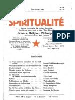 SPIRITUALITÉ « Etre Libre » N° 19-20 (Juin-Juillet 1946)