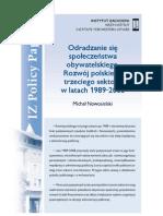 Michał Nowosielski, Odradzanie się społeczeństwa obywatelskiego. Rozwój polskiego trzeciego sektora w latach 1989-2008