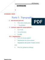 Stage Topographie