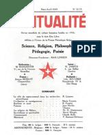 SPIRITUALITÉ « Etre Libre » N° 52-53 (Mars-Avril 1949)