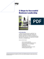5 Steps to Successful Business Leadership1