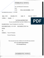 Withdrawal Notice for Workplan for 9/11 Commission's Team 4