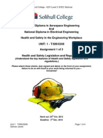 Health and Safety Assignment One - 2012-1